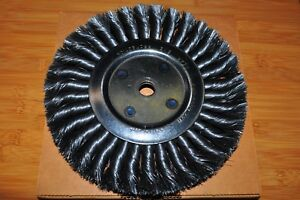 8 Knotted Twisted Wire Wheel Brush 3 4 Face 5 8 Arbor Made In Us