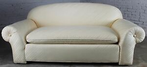 On Sale Vintage Donghia Sofa In Original White Vice Versa Fabric