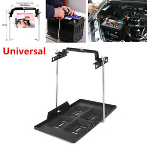 Car Storage Battery Holder Adjustable Tray Hold Down Clamp Bracket Kit Durable