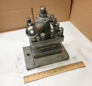 Mccroskey Tool Turret Lathe Tool Post Holder 9 x5 x1 5 Base Direct Attach