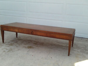 Vintage Antique Long Baker Furniture Coffee Table W Single Drawer