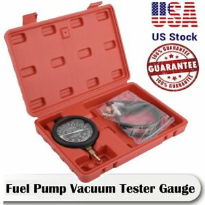 Fuel Pump Vacuum Tester Gauge Leak Carburetor Pressure Diagnostics W Case Ma