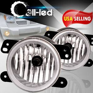 For 2005 2010 Chrysler 300 W Touring Clear Bumper Fog Lights Lamps Replacement