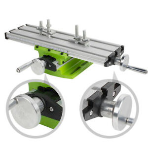 Milling Machine Work Table Cross Slide Bench Drill Press Vise Fixture usa