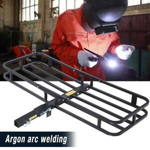 Folding Cargo Carrier Rack Luggage Basket Receiver 2 Hitch Mount Atv Car Suv