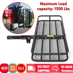53 Folding Luggage Cargo Basket Carrier Truck Suv Trailer Receiver Hitch Rack