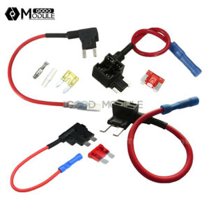 12v 10a Micro mini standard Tap Adapter Blade Fuse Holder Acs Add A Circuit Fuse