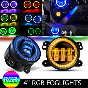 For Jeep Grand Cherokee 2011 2013 2pcs 4 Inch Led Front Bumper Fog Light Bulb