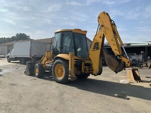 Jcb 214 Backhoe side Shift Offset 4x4 Enclosed Cab Extendahoe 6 In 1