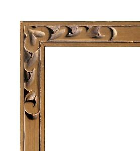 Antique Gold Gilt Picture Frame Hand Carved 9 1 2 X 13 Rabbet