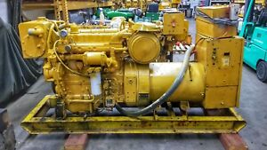 Caterpillar Cat 3304 Marine Diesel Generator 75 Kw 135 Hp