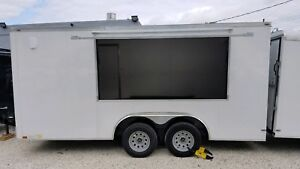 New 8 5 X 16 Enclosed Concession Food Vending Trailer W Equipment