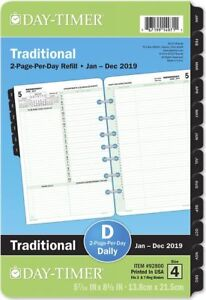2 page per day Reference Planner Refill Desk Size