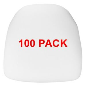 100 Pack Hard White Fabric Chiavari Chair Seat Cushion For Wood And Resin Chairs