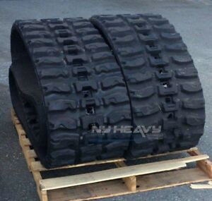 Two Rubber Tracks Fits Cat 299c 450x86x60 Free Shipping 18 Q Tread Caterpillar