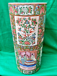 Chinese Antiques Famille Rose Porcelain Umbrella Stand 19 Height Es
