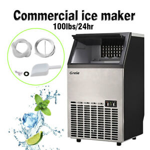 Commercial Ice Maker Built in Undercounter Freestand Ice Machine 100lb 24hr