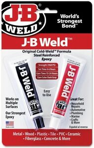 J b Weld 6 case Cold Weld 2 part Epoxy System General Purpose Solvent resistant