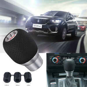 7 3cm Gear Shift Knob For Sti Subaru Impreza Black Pu Leather 5 Speed