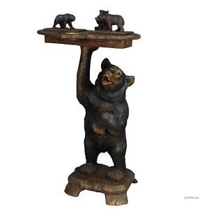 A Fantastic Carved Smoking Side Table With Bears