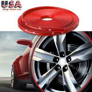 Eye Catching Red Car Wheel Hub Rim Edge Protector Ring Tire Guard Rubber Sticker