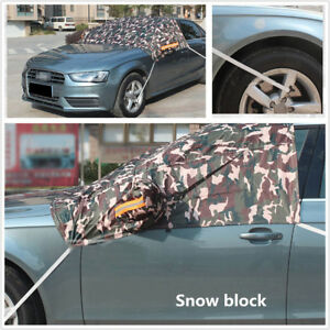 1pcs Windshield Cover Sun Snow Ice Shield Half Top Cover For Most Car Vehicles