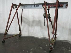 Wallace Gantry 54t10 a10 Portable Gantry Crane 2 Ton 12180140009