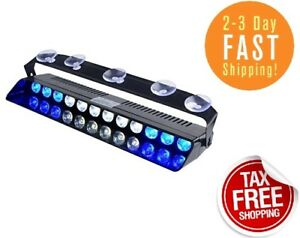 Emergency Light Blue White 12w Bright Led Strobe Lighting Volunteer Firefighter