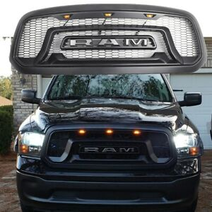 Us New Rebel Style Ram 1500 Grill 2013 2018 Abs Honeycomb Bumper Grilles Black