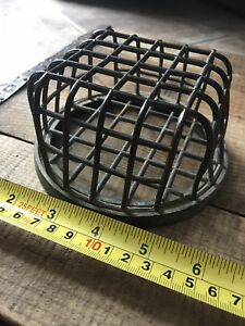 Metal Frog Industrial Steampunk Decor Caged No 1 Early 1916 Green Antique Dazey