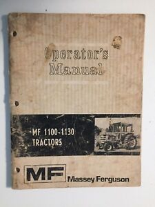Massey ferguson Mf 1100 1130 Tractor Operator s Owner s Instruction Manual Book