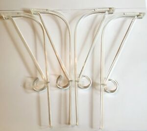 4 Vtg Lucite Plastic Table Legs Mid Century Hollywood Regency Thick Ghost