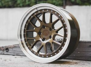 Aodhan Ds06 18x9 5 30 18x10 5 22 5x114 3 Bronze Is250 Supra Rx7 Gs300 Sc400