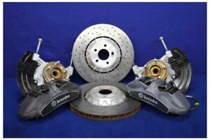 2015 2017 Ford Mustang Gt350 Front 6 Piston Brembo Brake Calipers Rotors Kit