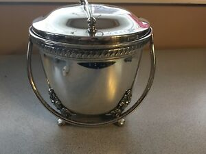 Ice Bucket Epca Bristol By Poole Silverplate Ornate Footed
