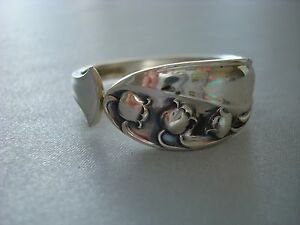 Gorham Lily Of The Valley Sterling Silver 1 Napkin Ring S 4 Avail Great
