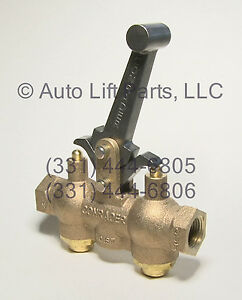 Locking Air Control Valve For In Ground Auto Lifts Weaver Lift Western Lift