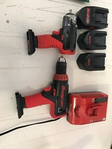 Snap On 18v Cordless Impact Cordless Drill Charger 3 Batteries
