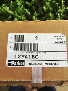 New Parker 12f41ec Coalescing Filter 3 4 Npt