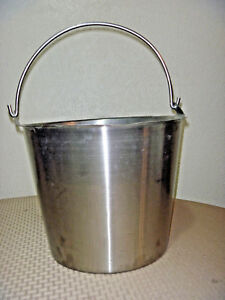 Heavy Duty Polar Ware Bucket Stainless Steel 13 Qt 12 n Milking Maple Syrup Pail
