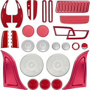 Full Sets Interior Decoration Accessories Trim Cover For Ford Mustang 2015 2018