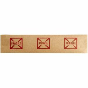 fragile Reinforced Water Activated Tape 3 X 600 10 Rolls Gummed Paper Tape