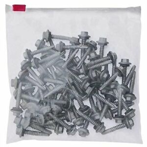 100 Pack Of Clear Slider Locking Bags 12 X 15 Reclosable Poly Packing Bags 3