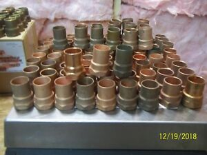 Lot Of 10 Ten New Old Stock Nos 1 Nibco Adapter Copper Threaded