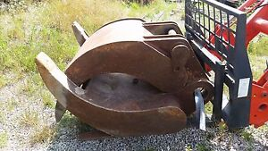 Case 125b Excavator Grapple Attachment Hydraulic Clam Shell