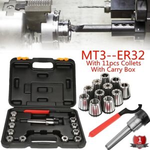 Precision Er32 Collet Set Mt3 Shank Chuck Spanner Box For Milling Machine Mx