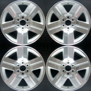 Chevrolet Silverado 1500 Compatible Replica Machined 20 Wheel Set 2007 2011 959