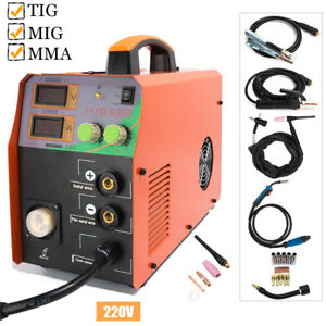 Mig200 200amp Welder Inverter Mig Welding Machine Stick Mma Tig 3in1 Torch