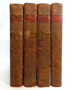 Rare Late 18th C Antique Buffon S Nat History 1775 Vols 1 3 4 6 Leather Bound