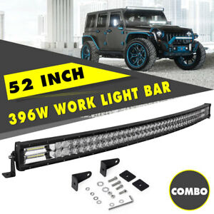 Curved 52 Inch 396w Combo Beam Led Work Light Bar For Driving Fog Lamp suv drl
